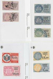 Monaco Revenue fiscal 6-23-21 no gum some w/tiny faults? 48 Stamps
