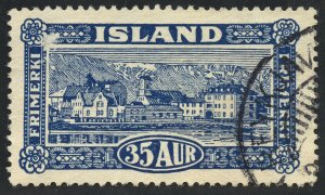 01841 Iceland Scott #147 used, 35 Aur view of Reykjavik