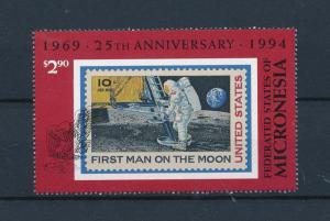 [56853] Micronesia 1994 First man on the moon Stamps on stamps from sheet MNH