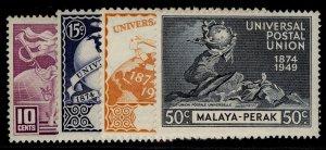 MALAYSIA - Perak GVI SG124-127, anniversary of UPU set, NH MINT.