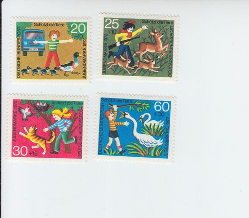 1972 Germany Animal Protection  (Scott B481-4) MH
