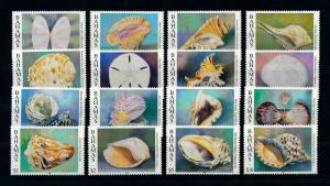 [99708] Bahamas 1996 Marine Life Sea shells 16 Values Year 1996 MNH