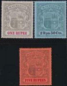 Mauritius 1902 SC 124-126 MLH Set
