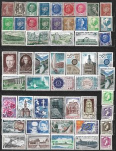 COLLECTION LOT OF 53 FRANCE MH 1926+ STAMPS