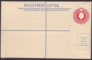 SWAZILAND QE 6d Registered envelope fine unused............................67598