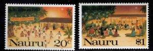 NAURU Scott 341-342 complete 1997 Christmas set