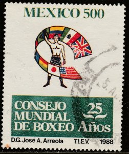 MEXICO 1556 World Boxing Council 25th ANNIVERSARY. USED. F-VF. (1358)