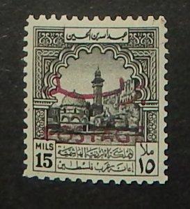 Jordan 286B. 1953 15m Gray, Postage overprint