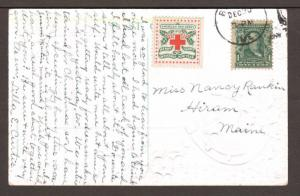 US Sc WX5, 300 on 1909 color Happy New Year! PPC