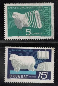 Uruguay Scott 800-801 Used set from 1971