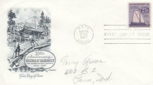 1957, 350th Anniv. Virginia of Sagadahoc, Artmaster, FDC (D13936)