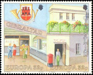 Gibralter #563a, 565a, Complete Set(4), Pairs, 1990, Europa, Never Hinged