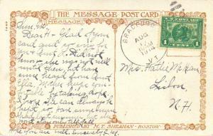 United States Vermont Bradford 1914 duplex  1c Panama Pacific PPC.