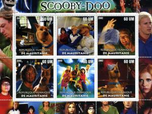 Mauritania 2002 Scooby-Doo Movie Sheet Perforated mnh.vf
