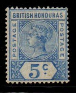 British Honduras Sc 41 1895 5c ultra Victoria stamp mint