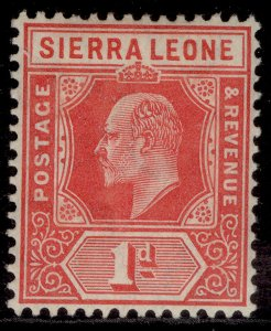 SIERRA LEONE EDVII SG100a, ½d red, LH MINT. Cat £18.