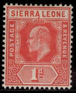 SIERRA LEONE EDVII SG100a, ½d red, LH MINT. Cat £18.