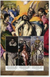 Grenadines Grenada 2015 MNH El Greco 3v M/S II Fray Hortensio Paintings Stamps
