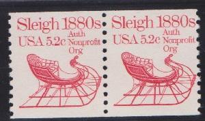 1900 Sleigh F-VF MNH transportation coil pair