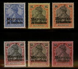 Germany 1903 Morocco Unissued Stamps Mi10II-15II CVEUR3000 Lantelme BPP Ce 88562