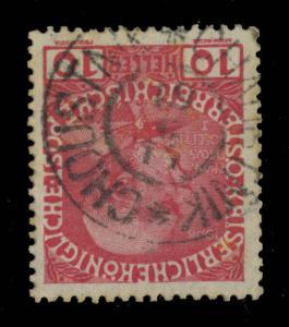 AUTRICHE / AUSTRIA 1914 - MiNr.144x - used  CHOUSTNÍK * CHAUSTNIK *  (CZECH)