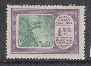 ARGENTINA ^^^^^^  sc# C17   mint  LH  AIRPOST  ( one PESO 26 )$$@ ta1407arg