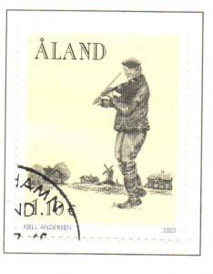 Aland Finland Sc 216 2003 Fiddler Folk Music Festival stamp used