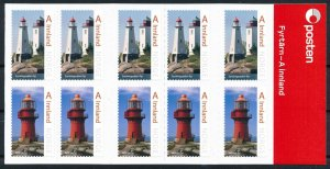 [I1659] Norway 2016 Lighthouses good complete booket very fine adhesive folded