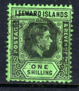 Leeward Islands 1938 - 51 KGV1 1/-d Black & Emerald SG 110 ( M123 )