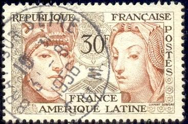 Symbols Of Latin American French Culture France Stamp Sc795 Used