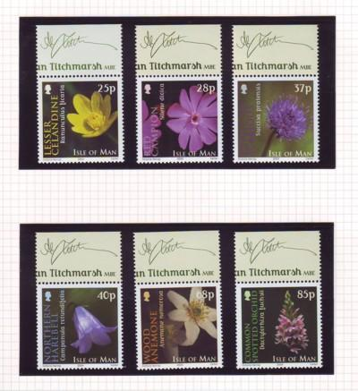Isle of Man  Sc 1028-33 2004 Wild Flowers stamp set mint NH
