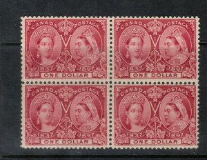Canada #61 Very Fine Mint Block **With Certificate**