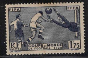 France Scott 349 MH*  World Cup Soccer stamp 1938
