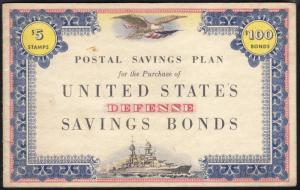 #PS15 BOND BOOK WITH ONE STAMP BR3389