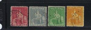 TRINIDAD SCOTT #58-61 1876 WMK 1-PERF 14- USED