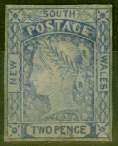 New South Wales 1851 2d Greyish Blue SG55 Fine Lightly Mtd Mint