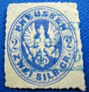 PRUSSIA 1861  -  SCOTT # 18a  -  USED               (Hp21)