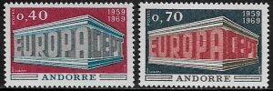 Andorra, French #188-9 MNH Set - 1969 Europa