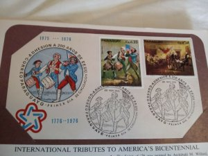 Paraguay 1975 US Bicentennial First DAY Cover