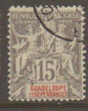 Guadeloupe #35 Used