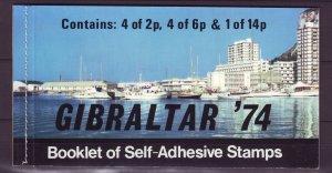 Z707 JLstamps 1974 gibraltar bklt mnh #309a upu
