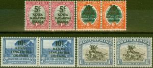 KUT 1941-42 set of 4 SG151-154 Fine Lightly Mtd Mint