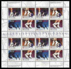 Canada SHEET #1899a - World Figure Skating Championships (2001) 4 x 47¢