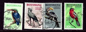 Botswana 23-26 Used 1967 Birds part set    (ap6198)