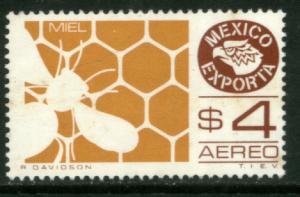 MEXICO Exporta C600, $4P Honey Wmkd Fosfo Paper 2 MINT, NH. VF.