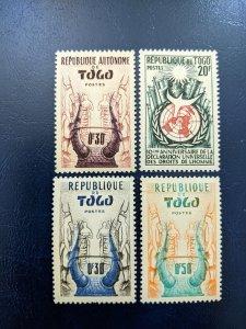 Togo 333,347,350-351 VF-XFMH, CV $1.80
