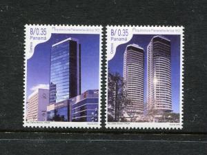 Panama 887-888, MNH, 2001 Architecture of the 1990. x26678
