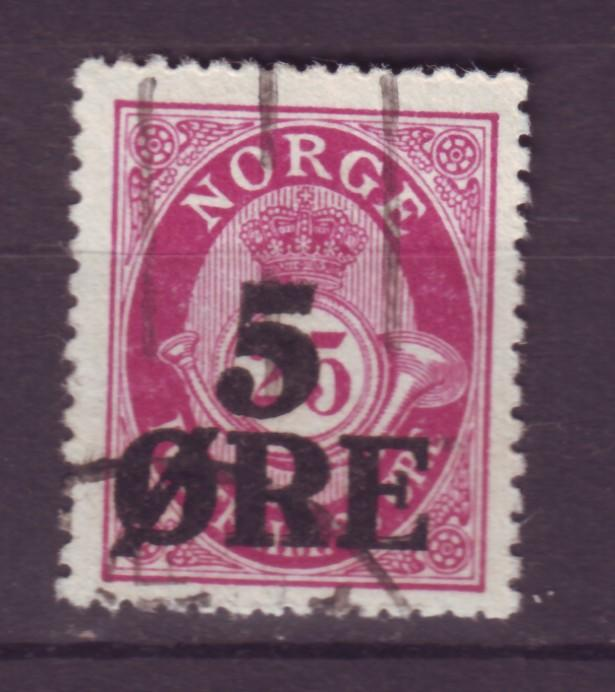 J12669 JLstamps 1922 norway used #99 posthorn ovpt