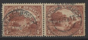 SOUTH AFRICA SG35c 1930 4d BROWN p14x13½ FINE USED