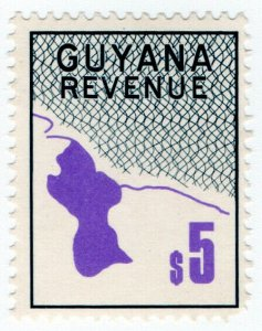 (I.B) British Guiana (Guyana) Revenue : Duty Stamp $5